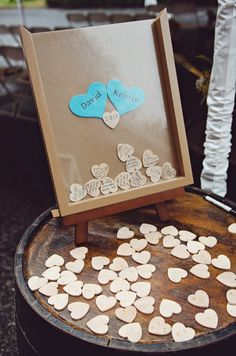 Wooden Heart Wedding Guest Book
