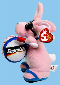 Energizer Bunny E., Ty Beanie Baby rabbit reference information and photograph.