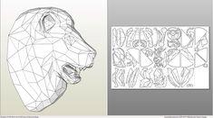 Decrowcraft (Papercraft & Pepakura)'s photos 3d Paper Art, Paper Crafts Origami, Origami Paper, Cardboard Sculpture, Cardboard Paper, Geometric Graphic Design, Art Worksheets, Paper Animals, Paper Fans