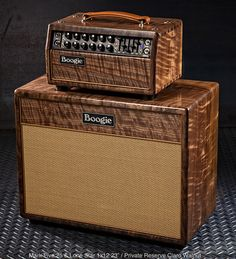 """Mesa/Boogie Mark Five: 25 Custom Head and Matching 1x12 23"""" Cab in Private Reserve Claro Walnut. For the low, low price of $5785, it can be yours! (I'd hate to see how much a Mark V costs.)"""