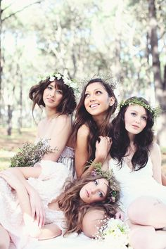 Hairpieces are a no, but I love the picture like this with my girls!
