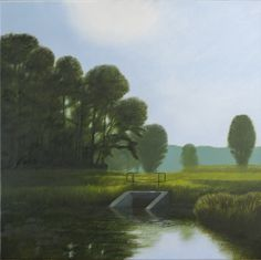 Painting: Rob Donders   Oil on canvas - GROTE HEKLAANTJE