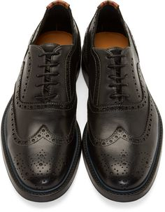 PS by Paul Smith Black Wingtip Knight Brogues
