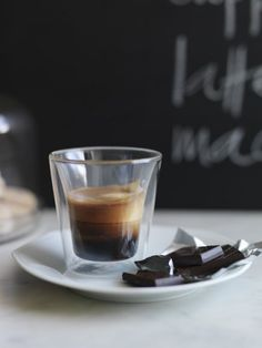 espresso and some dark chocolate <3