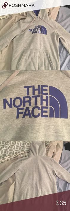 Women's North Face sweatshirt Gray and purple North Face women's sweatshirt. Size small. Has hood and front pocket North Face Other