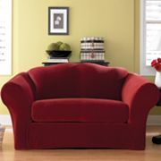 sure fit stretch pique 2pc loveseat slipcover