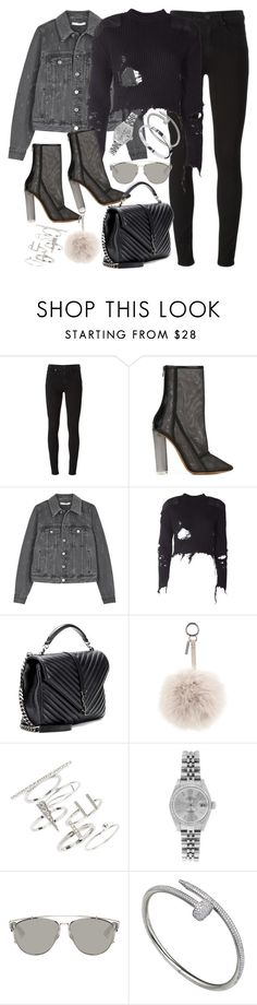 """""""Untitled #1468"""" by leylasstyle ❤ liked on Polyvore featuring Paige Denim, adidas Originals, Givenchy, Yves Saint Laurent, Fendi, Topshop, Rolex, Christian Dior and Cartier"""