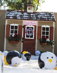 Christmas Yard deco Idea or Winter ONEderland Birthday Party | | Kara's Party IdeasKara's Party Ideas