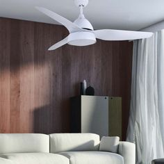 Ceiling fan with light Autan - Fabrilamp - Wonderlamp. Metal Structure, Led, Fashion Room, Cool Lighting, Ceiling Fan, Wall Lights, Relax, Bulb, Living Room