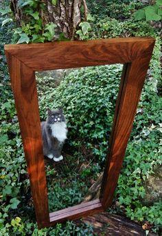 walnut mirror solid walnut mirror large wall mirror modern mirror