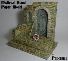 Creating A Medieval Stand Paper Model For Mini Figures - by Papermau Part IV