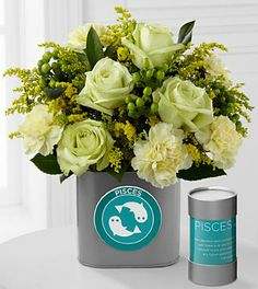 The FTD® Discovering Your Star Pisces Zodiac Flower Bouquet - 12 Stems - VASE INCLUDED