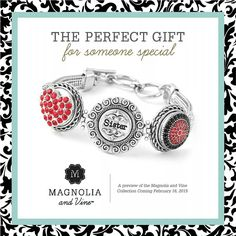The perfect gift for someone special!  * * * * * * * * * * * * * * * * * * * * Melissa Spencer, Magnolia and Vine Independent Style Consultant * * * * * * * * * * * * https://www.facebook.com/pages/Magnolia-and-Vine-by-Melissa-Spencer-Independent-Style-Consultant/561934140615637 * * * * * * * * #magnoliaandvine #snapjewelry #founder
