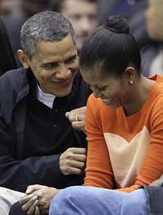 Pres. Obama & Michelle. So cute together I can't help but smile.