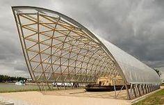 by Shigeru Ban 坂茂 Paper Structure, Bamboo Structure, Timber Structure, Shade Structure, Building Structure, Architecture Paramétrique, Futuristic Architecture, Shigeru Ban, Arquitectos Zaha Hadid