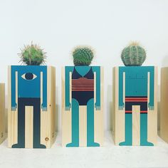 Love these fun cacti heads by @damianquirogamaker found at my new favourite shop @omg_bcn  who only sell work by Barcelona designers & makers! Don't miss it if you visit the city! #madeinbarcelona #omgbcn