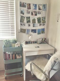 use a rolling bar cart to store books + decor