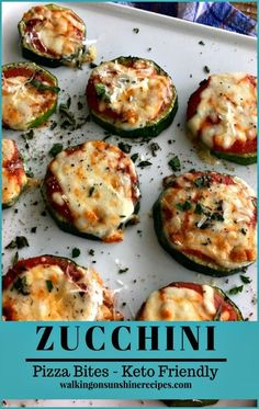 zucchini pizzas Zucchini Pizza Bites Keto Friendly Snack from Walking on Sunshine Recipes . Zucchini Pizza Bites Keto Friendly Snack from Walking on Sunshine Recipes Low Carb Keto, Low Carb Recipes, Cooking Recipes, Healthy Recipes, Pizza Recipes, Flour Recipes, 7 Keto, Cooking Bacon, Ketogenic Recipes