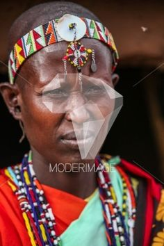 Mulher Masai/Maasai woman by Artur Cabral – Moderimage