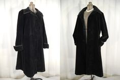 1960s Coat// XL Coat// Mod Coat// Gothic Coat// Black Coat// Fit and Flare Coat// Pirate Coat// Captins Coat// Steampunk Coat by RockabillyRavenVtg on Etsy