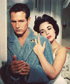 "This film was originally to be filmed in black and white, as was the standard practice with ""artistic"" films in the 1950s. However, once Paul Newman and Elizabeth Taylor were cast in the leads, director Richard Brooks insisted on shooting in color, in deference to the public's well known enthusiasm for Taylor's violet and Newman's strikingly blue eyes.  Cat on a Hot Tin Roof (1958)"