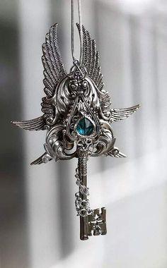 Key by *KeypersCove Key Jewelry, Cute Jewelry, Jewelery, Fantasy Jewelry, Gothic Jewelry, Magical Jewelry, Key To My Heart, Key Necklace, Handcrafted Jewelry