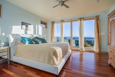 Are we in Boise or at the beach? It's hard to tell in this airy master bedroom. Crawl out of your cozy sleigh bed, pull back the curtains, and feel the sunlight on your face. It's going to be a good day.