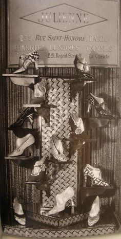 1920s Shoes. I think the display was random so it look more inspiring and liberal.