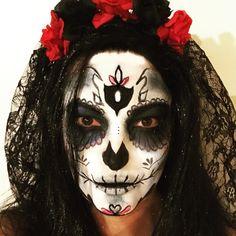 dia de los muertos make up! Eleftheria Savvopoulou make up artist www.eleftheriasavvopoulou.gr
