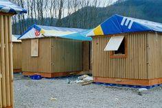 Shigeru Ban - Paper Log House, Turkey, 2000