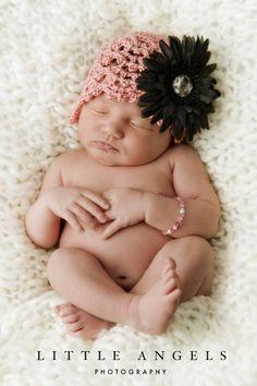 Strawberry Shortcake Newborn Cloche by SunsetCrochet