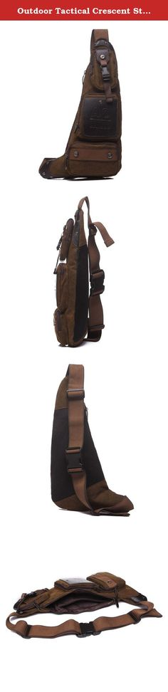 Outdoor Tactical Crescent Style Shoulder Sling Pack Military Sport Bag Daypack for Camping Hiking Trekking Style1--Coffee. It is the perfect compact solution for organizing and carrying your gear for EDC, hiking, camping, hunting, attending sports events, school, or working outdoors. There is a zippered compartment inside the main compartment,and three small pouches on the front. One-shoulder strap design, the bag can wear as a single-shoulder bag/sling backpack, or a cross-body pack…