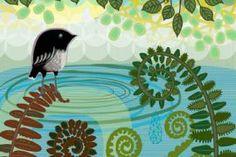 Summer Pool by Jane Galloway.  Wall Art print from The Little Art Gallery, Tairua, Coromandel, NZ