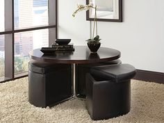Small space solutions on pinterest cocktail tables for Dining table solutions for small spaces