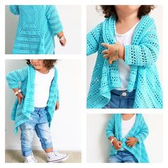 Blue Sky Cardi ByKaterina - Crochet patterns Blue Sky Cardi Simple to observe free sample for sizes from 2 to 10 years previous. Crochet Cardigan Pattern, Crochet Jacket, Easy Crochet Patterns, Crochet Vests, Crochet Toddler, Crochet Girls, Crochet For Kids, Crochet Children, Pull Crochet