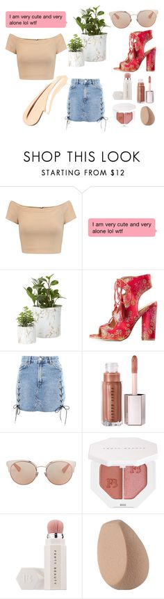 """Fenty"" by synournxo on Polyvore featuring beauty, Alice + Olivia, FRH, Topshop, Universal, Christian Dior and Puma"