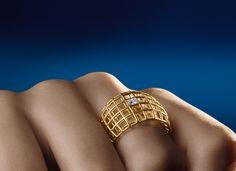 Anel Estrutura com diamante