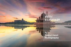 Beautiful Sunrise at Masjid Putra, also known as Putra Mosque located in Putrajaya, Malaysia. #Putrajaya #Malaysia #Islam #Mosque #PlaceofWorship
