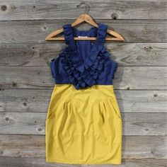 Southern Charm Cute Dresses, Cute Outfits, Summer Dresses, Women's Dresses, Mellow Yellow, Blue Yellow, Blue Gold, Mustard Yellow, Classy And Fabulous