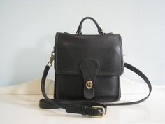 Vintage Authentic Coach Black LEather Handbag by midtownmommy, $65.00