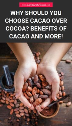 Why Should You Choose Cacao Over Cocoa? Benefits Of Cacao And More! Cocoa Benefits, Cacao Powder Benefits, Natural Cough Remedies, Herbal Remedies, Natural Cures, Diet Recipes, Healthy Recipes, Joy Of Cooking, Eating Organic