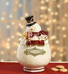 Vintage Holiday Snowman Cookie Jar