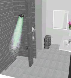 Kleine grijze badkamers op pinterest badkamer hanglamp lichtgrijze badkamers en meisjes - Lichtgrijze gang ...