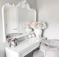 Home Interior Hamptons Room Ideas Bedroom, Bedroom Decor, Dressing Room Decor, Dressing Table, Makeup Room Decor, Glam Room, Aesthetic Room Decor, Beauty Room, My New Room