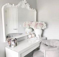 Home Interior Hamptons Room Ideas Bedroom, Bedroom Decor, Dressing Room Decor, Dressing Table, Makeup Room Decor, Glam Room, Aesthetic Room Decor, My New Room, Home Interior