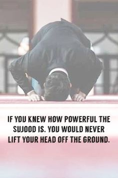 If you knew how powerful the sujood is, you would never lift your head off the ground Islamic Quotes In English, Islamic Images, Islamic Videos, Islamic Love Quotes, English Quotes, Wisdom Quotes, Life Quotes, Tears In Eyes, Islamic Status
