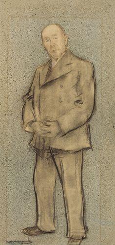 The Athenaeum - Portrait of Josep Parera (Ramon Casas y Carbó - )