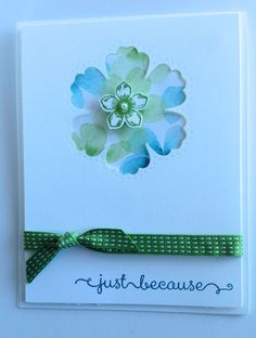 just because card by Ginger ToIvonen... using negative space backed with patterned paper