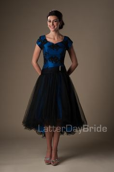 Modest Prom Dresses : Baxter  There's also a purple one!!!! The back is also pretty cool.