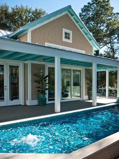 Looking for Outdoor Space and Swimming Pool ideas? Browse Outdoor Space and Swimming Pool images for decor, layout, furniture, and storage inspiration from HGTV. Minimalist House Design, Minimalist Home, Mini Piscina, Swimming Pool Pictures, Backyard Pool Landscaping, Landscaping Ideas, Patio Ideas, Backyard Ideas, Garden Ideas